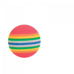 Regnbågsbollar 3,5 cm 4 st.