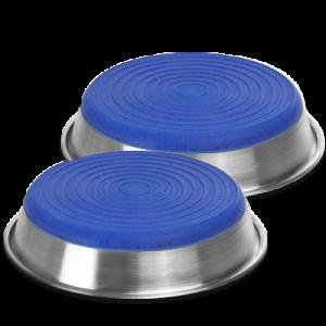 BUSTER hundskål m. silikonbotten, blå