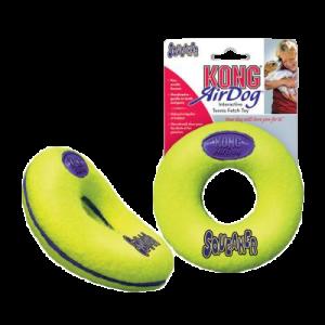 KONG AirDog Squeaker Donut tennisboll diameter 9 cm
