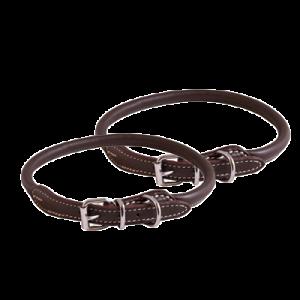 KW Walker Rundsytt Halsband Brun, 1,0x55 cm