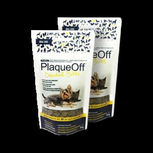 PlaqueOff Dental Bites 60 g - hund och katt max 10 kg
