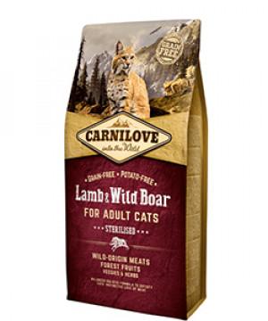 carnilove cat lamb wildboar