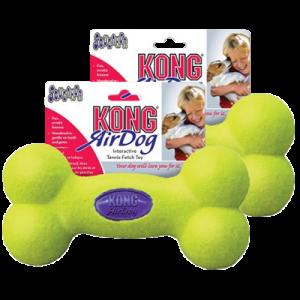 Kong AirDog Squeaker Bone tennisboll