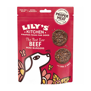 Lilly´s Kitchen Beef Mini Burgers, 70 g hund snack