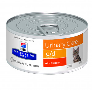Hills Prescription Diet c/d Multicare Feline med kyckling à 156 g