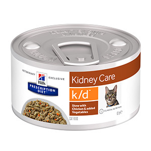 Hills PD Feline k/d Stew Chicken & Vegetables, 82g