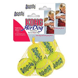 KONG AirDog Squeaker tennisbollar 3 st. S